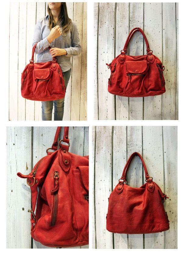 "Handmade Italian Brown Leather Messenger Bag ""MULTI TASC 4"" di LaSellerieLimited su Etsy"