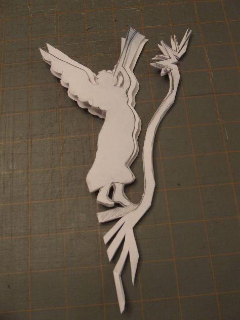 angel snowflake template