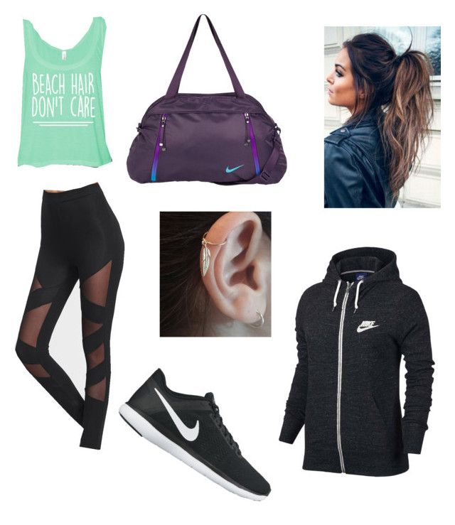 """Nike running outfit"" by fab4cass on Polyvore featuring NIKE"