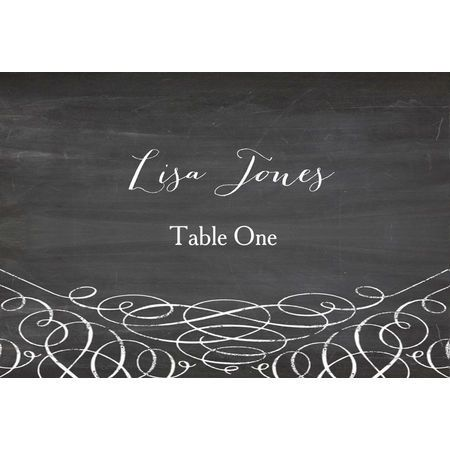 Available from our Chalkboard collection, this subtle design features a gorgeous chalkboard background, elegant boarder detail and retro fonts.