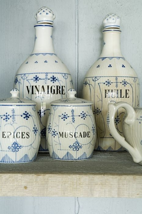 Blue and White | French | Antique