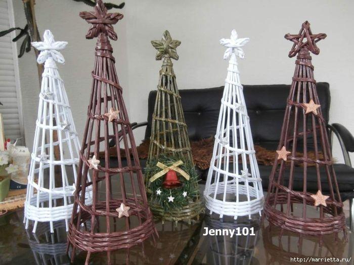 плетение из газет. рождественские идеи (72) (700x525, 252Kb)