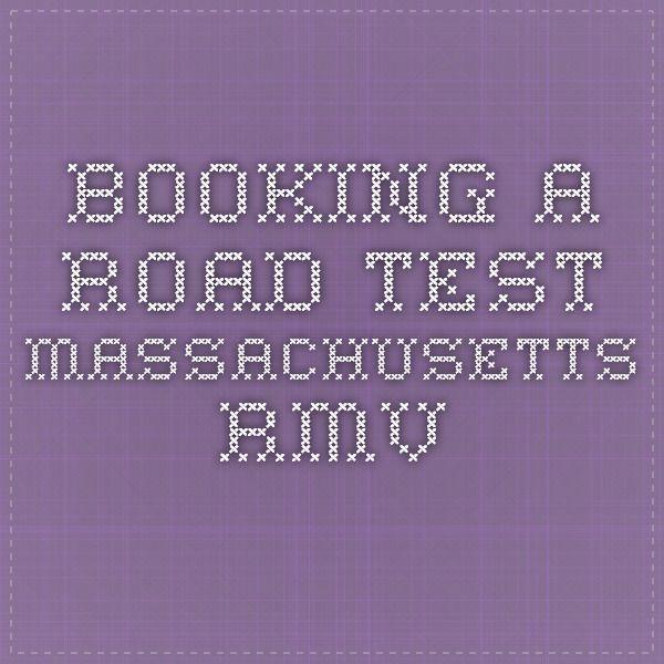 Booking a Road Test - Massachusetts RMV