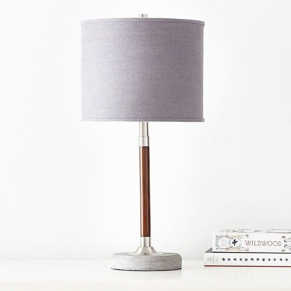 pb teen cooper table lamp grey 119 liked on polyvore featuring home