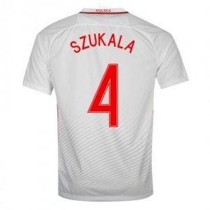 Poland National Team 2016 Szukala #4 Home Soccer Jersey [D808]