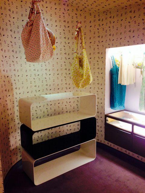 #brera bookcase, Fuorisalone 2014 @ Kristina Ti #boutique, A #Moveable Feast, #paris in the #Twenties collection, #interior #home #decor #homedecor #furniture #aluminium