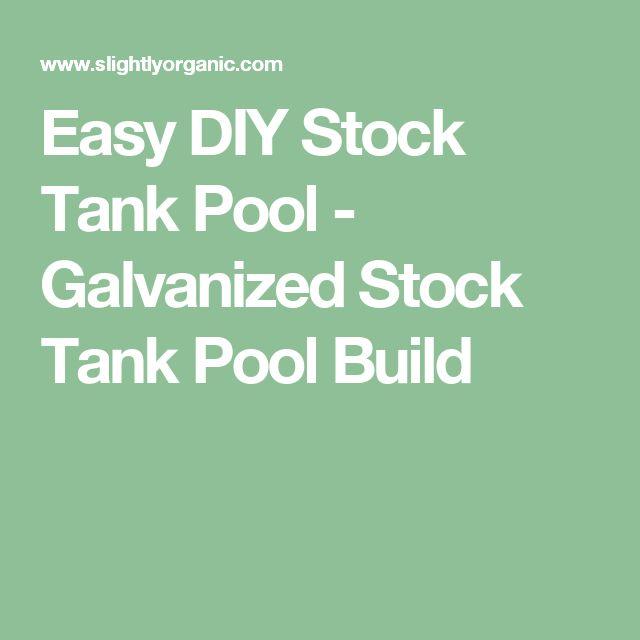 Easy DIY Stock Tank Pool - Galvanized Stock Tank Pool Build