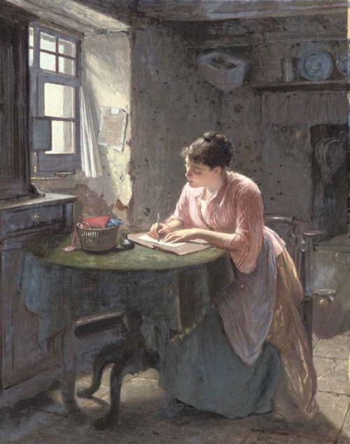 Foto Reprodução/http://books0977.tumblr.com/post/123953381032/the-love-letter-1878-haynes-king-english