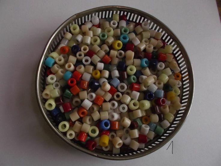 DDR Glasperlen Walzenperlen Fädelperlen Perlenuntersetzer Glas Porzellan BUNT