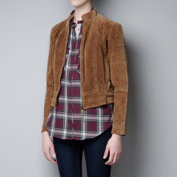 Zara jacket Zara brown suede jacket, runs smal Zara Jackets & Coats