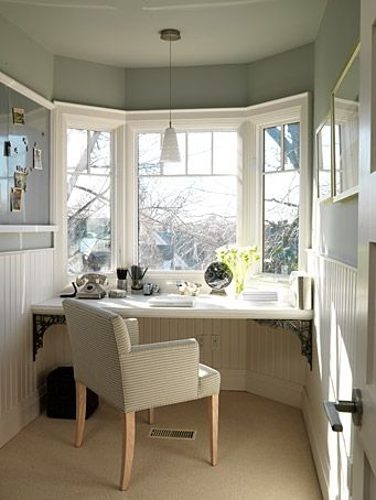 Once again, Sarah Richardson making a small space useful without adding bulky furniture... love it!