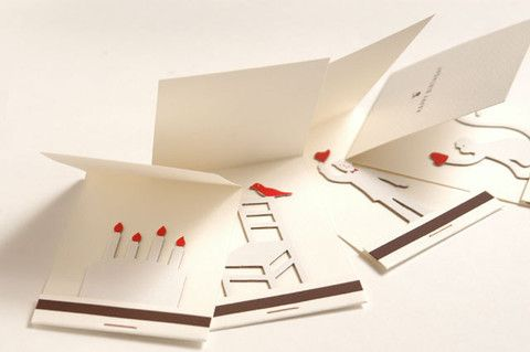 Matchbook Birthday Card – spoon & tamago