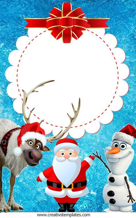Cartão de Natal Olaf