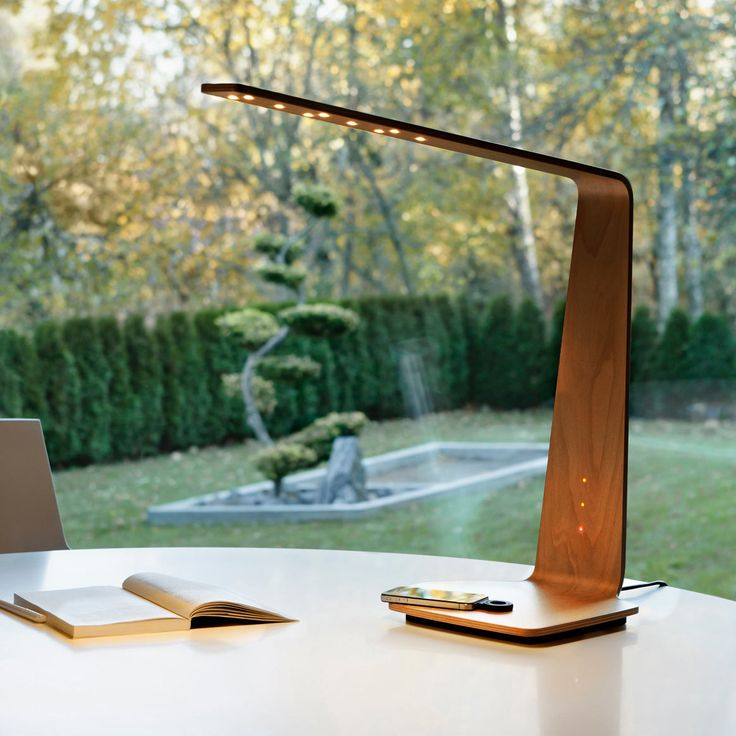 High Quality LED8 DESK  Lampe LED Noyer Avec Chargeur à Induction H56cm Great Pictures