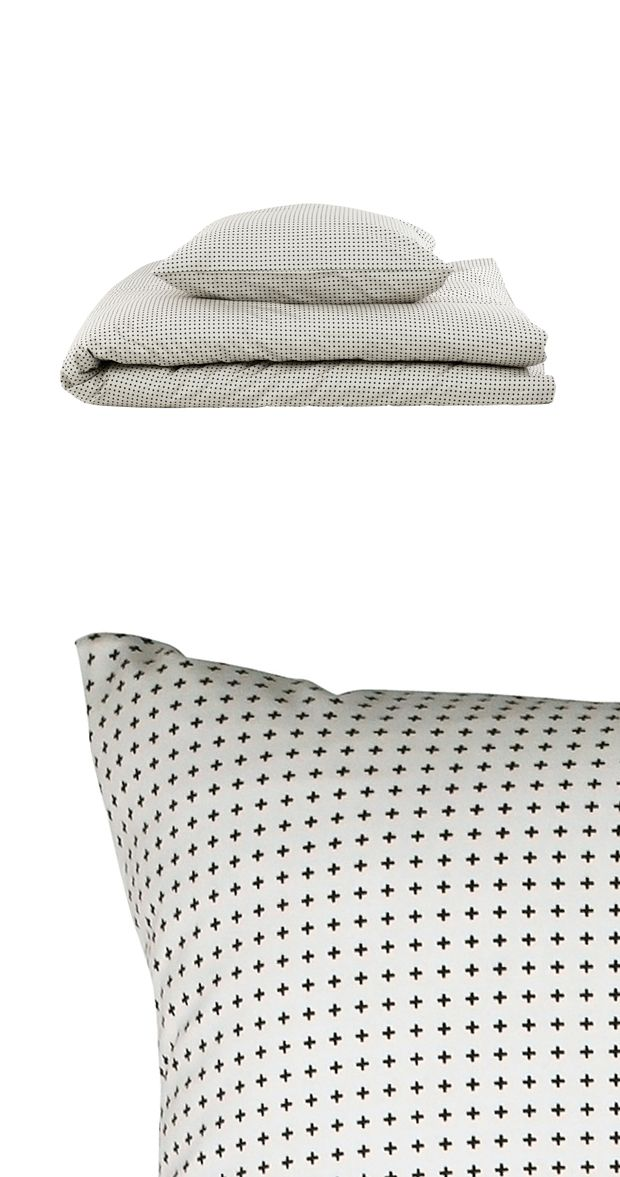 Sleep soundly with this cool and contemporary bed linen set. With a duvet cover and matching pillowcase both decorated in plus-sign patterning, this Upside Bed Linen Set will easily add a touch of char...  Find the 2-Pc. Upside Bed Linen Set, as seen in the Duvet Covers Collection at http://dotandbo.com/category/bed-and-bath/bedding/duvet-covers?utm_source=pinterest&utm_medium=organic&db_sku=113689