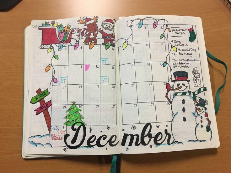 Ein lustiger Dezember Bullet Journal Holiday Layout