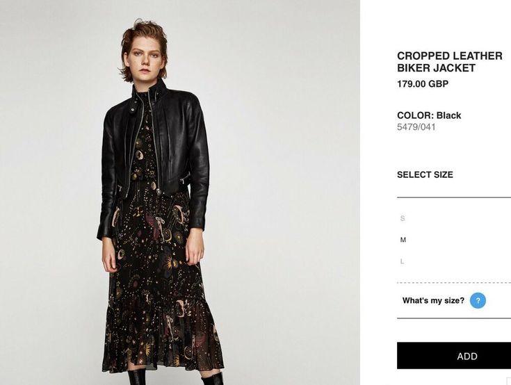 ZARA STUDIO REAL LEATHER BIKER JACKET SZ M RRP $349 #fashion #clothing #shoes #a...