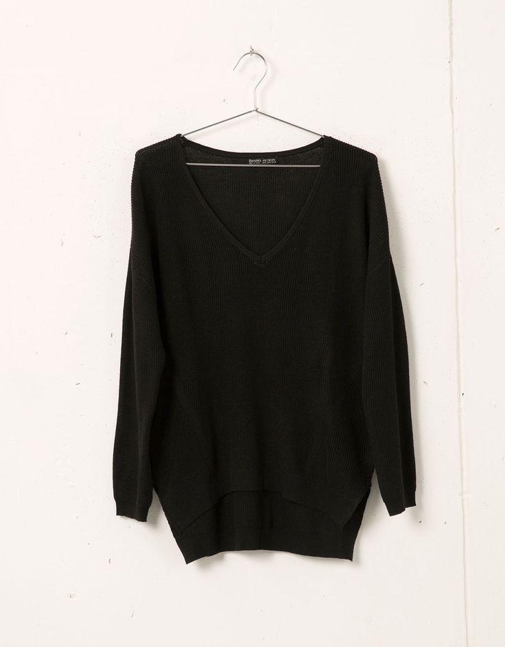 Bershka V-neck jumper - Sweaters & Cardigans - Bershka United Kingdom