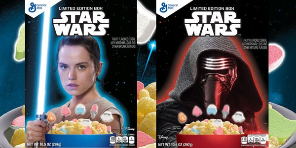 General Mills New Star Wars Cereal Box Designs