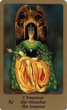 IV. The Emperor - Tarot of Eden by Alika Lindbergh, Maud Kristen
