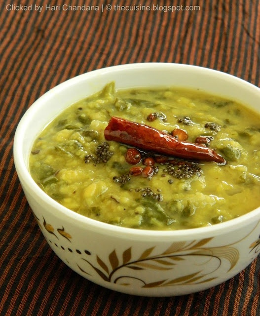 Moong  Spinach Dal Recipe