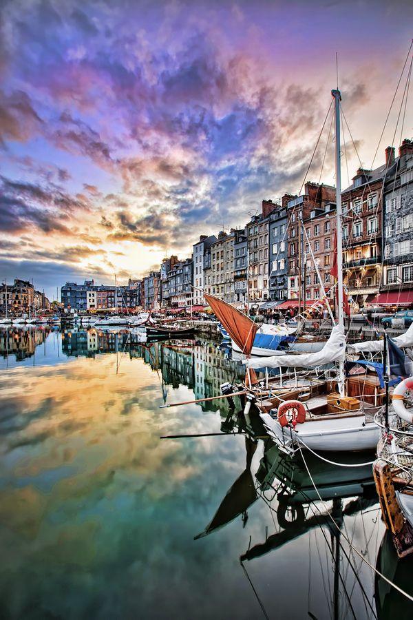 Normandie, Honfleur, ville des peintres, d'ou ce petit clin d'oeil