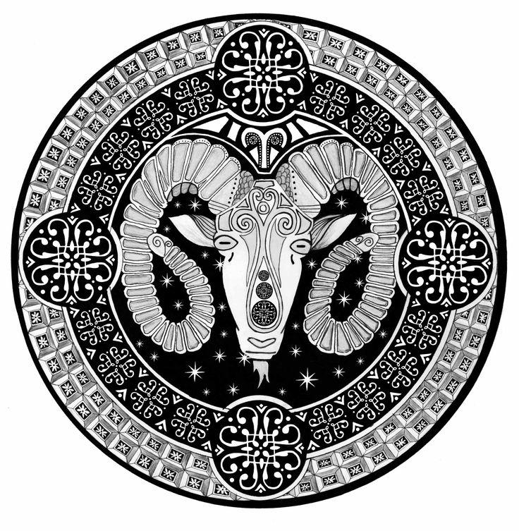 Title Quot Aries Quot Mandala Art By Oksana Stepanova