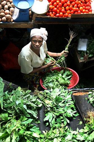 Ivory Coast vegetable market