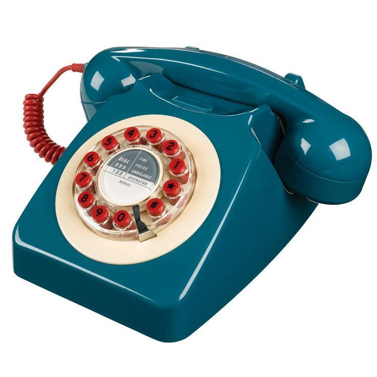News Lovely Market - Téléphone rétro, bleu pétrole - Remise exclusive de -20%...