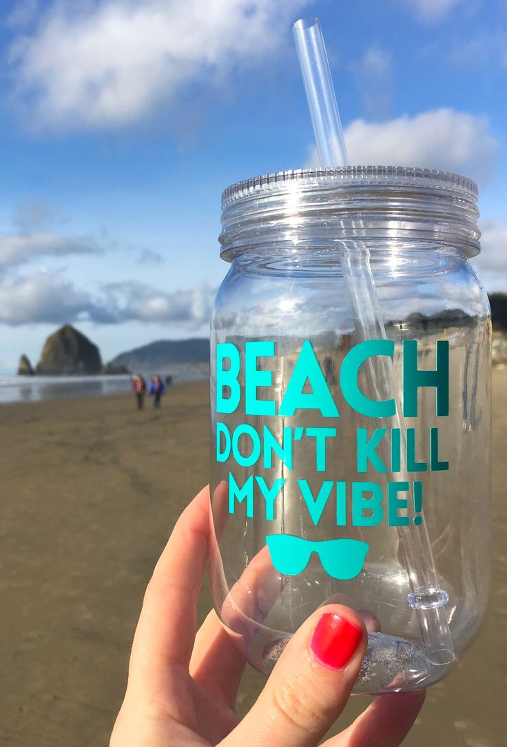 Beach bachelorette party tumblers - lot's of colors and easy to customize!