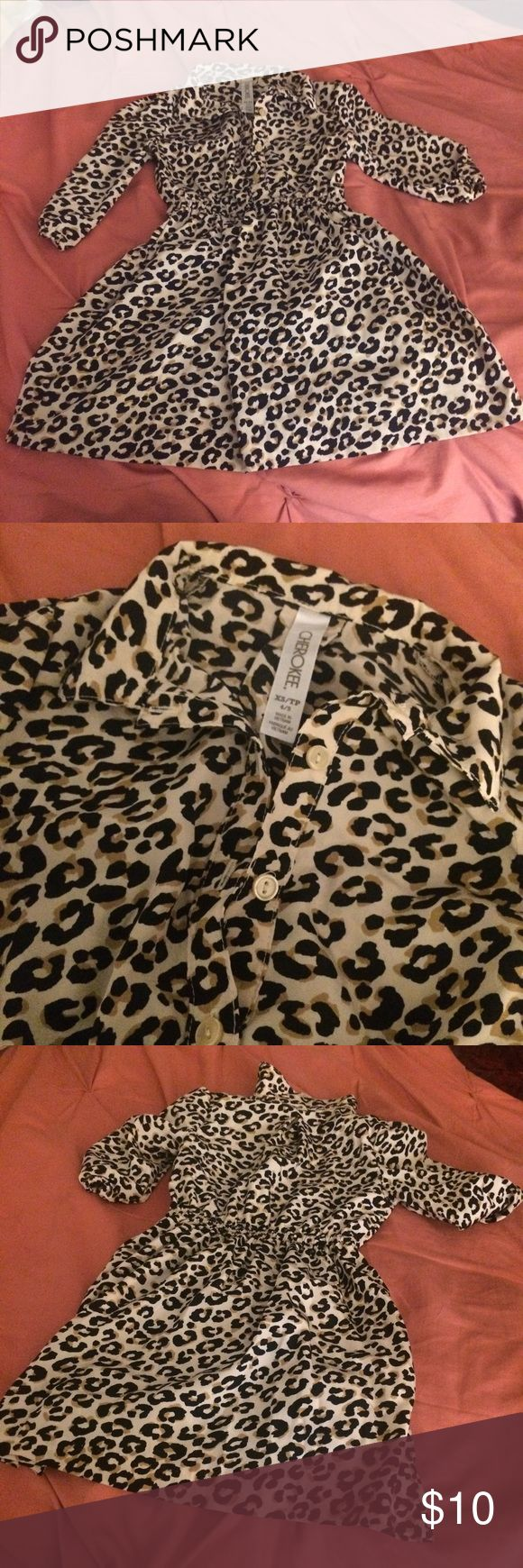 Cherokee cheetah print dress Very cute and comfy for any toddler size 4/5 Cherokee Dresses