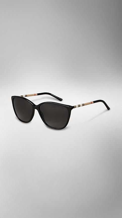 must have shades .. in blackFall 2012 | Burberry | Check Wrapped Cat Eye Sunglasses | Burberry.com