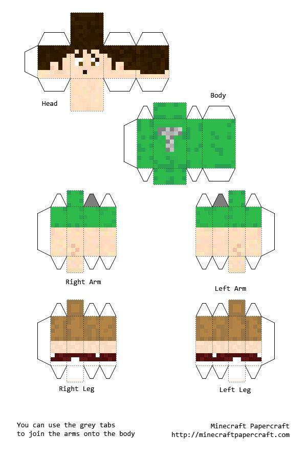 Papercraft Tobuscus Toby Turner Kids Minecraft