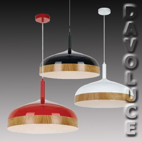 BRESNO 45cm Oak Timber Pendant