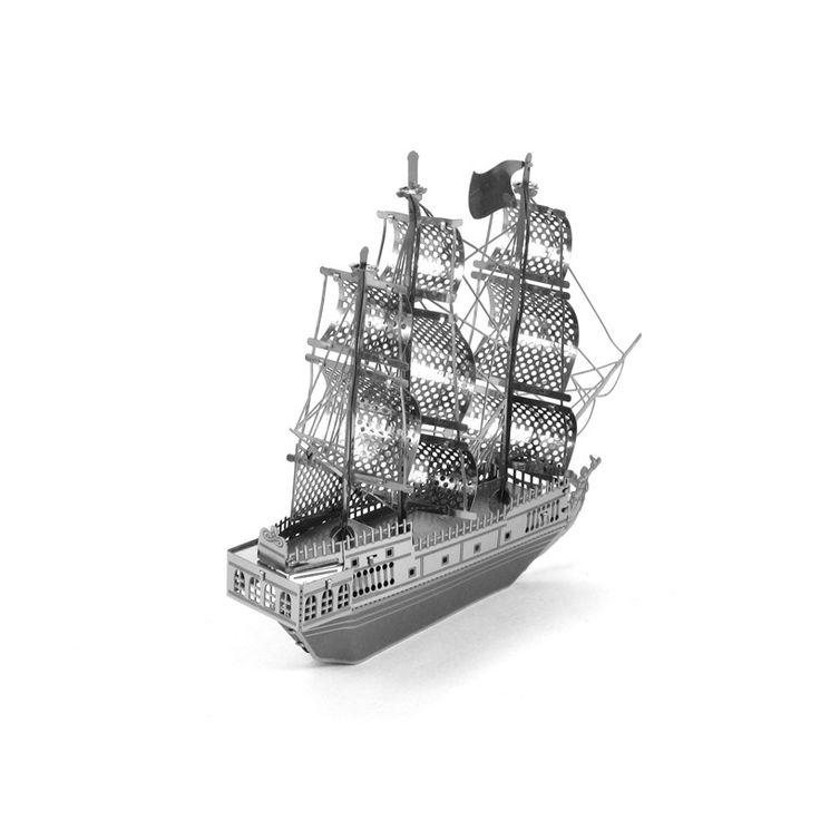 Creativo 3d buque rompecabezas rompecabezas juguetes educativos para niños de construcción del tanque de metal de acero inoxidable diy modelo de ensamblaje