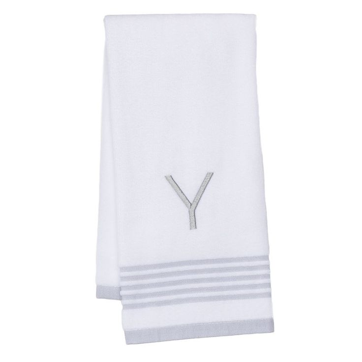 SONOMA Goods for Life™ Everyday Monogramed Hand Towel, White