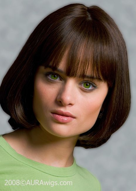 Chin-Length Blunt Cut Bob with Bangs