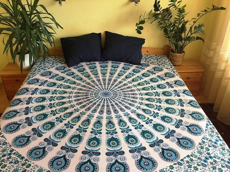 přehoz na postel, mandaly, ruční sítotisk, přehoz na pohovku, ozdobná tapisérie, dekorace na zeď, deka na piknik, plážová deka, podložka na pláž, podložka na cvičení jógy, jóga podložka, indická textilní dekorace