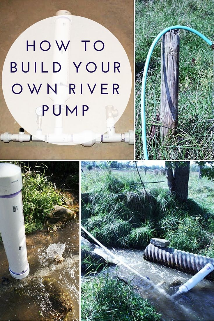 How To Build Your Own River Pump - If SHTF and the power goes this will still work and pump water with no electricity. This is vital if you plan to stay put either at a bug out location or a temporary residence.