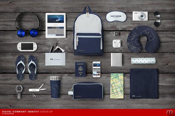 Travel Tourist Identity Mock-up by mesmeriseme on Creative Market