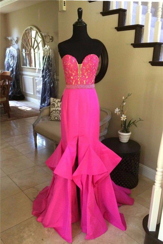 139 best hot pink prom dress images on Pinterest   Hot pink, Long ...