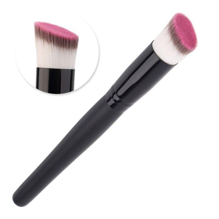 1pc Oblique Head Face Makeup Brush Foundation Powder Facial Contour Blush Cream Brush Beauty Cosmetic Makeup Brush Tools #Affiliate