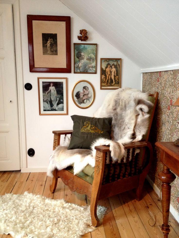 Collage in the bedroom Villavägen 3