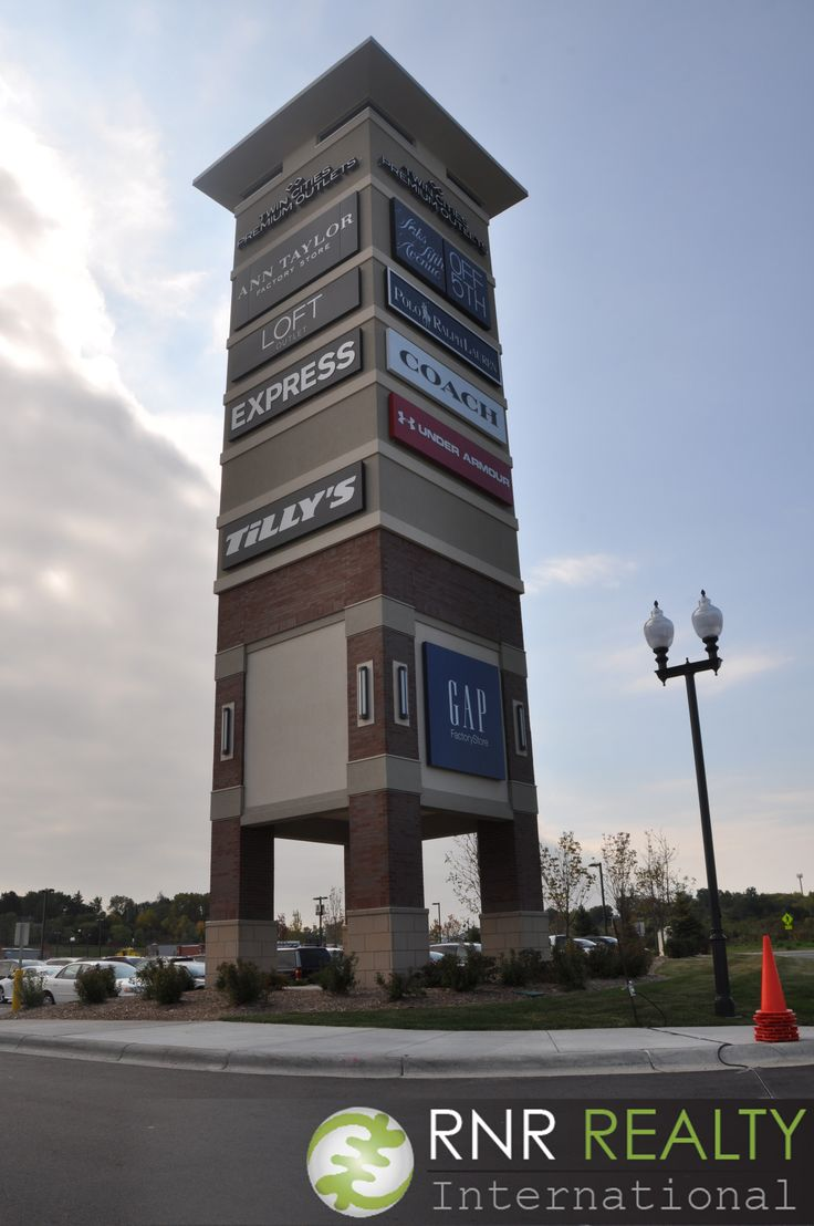 images about minneapolis mall of america sign for the paragon twin cities premium outlets in eagan mn
