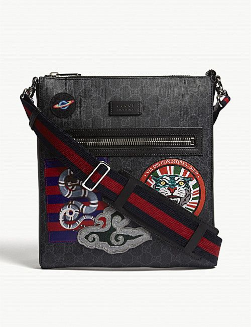 d521b47471f GUCCI GG Supreme patches messenger bag