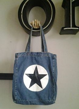 New in store - www.athomeliving.nl #denim #shopper #star