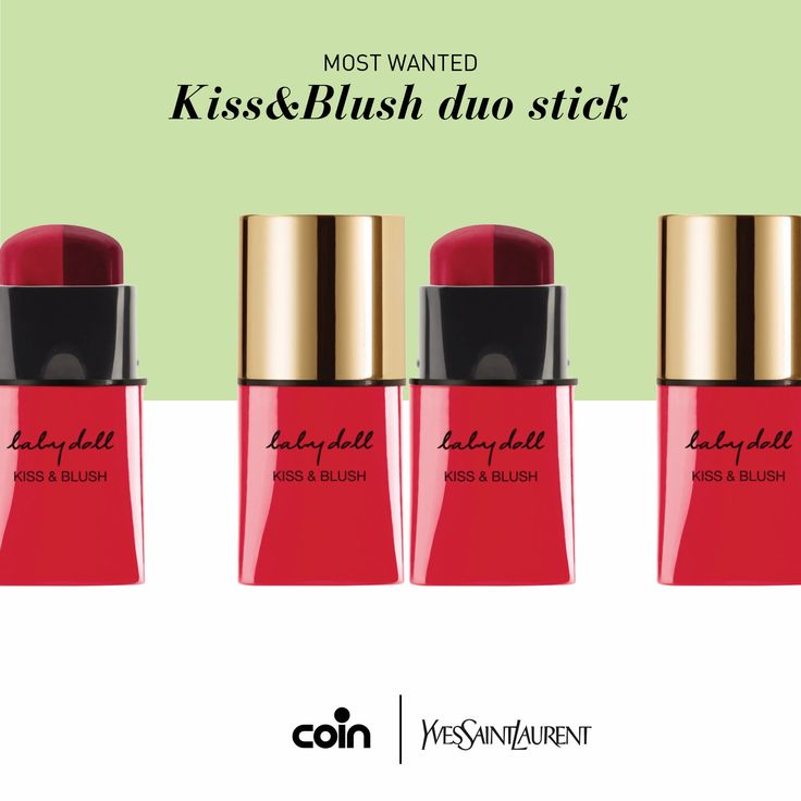 Un unico stick per labbra e guance da baciare; i colori del nuovo YSL Kiss&Blush sono tutti da provare! Vieni a scoprirli negli store Coin, reparto beauty! www.coin.it/