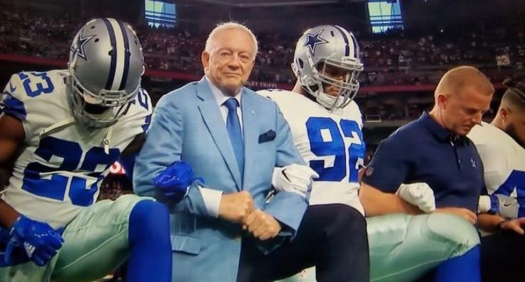Trump called Jerry Jones four times to discuss 'anthem stuff' despite claiming he 'wasn't preoccupied' by NFL