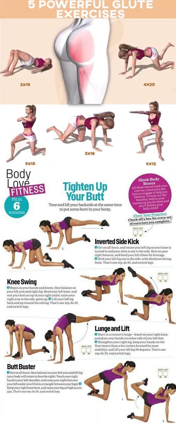 🍑3 Steps To A Better Butt Workout