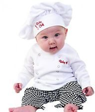 Baby Toddler Fancy Dress Chef Cook Outfit Halloween Costume Birthday Party Sets